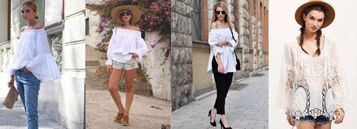 Bluze albe de vara ieftine de la Shein