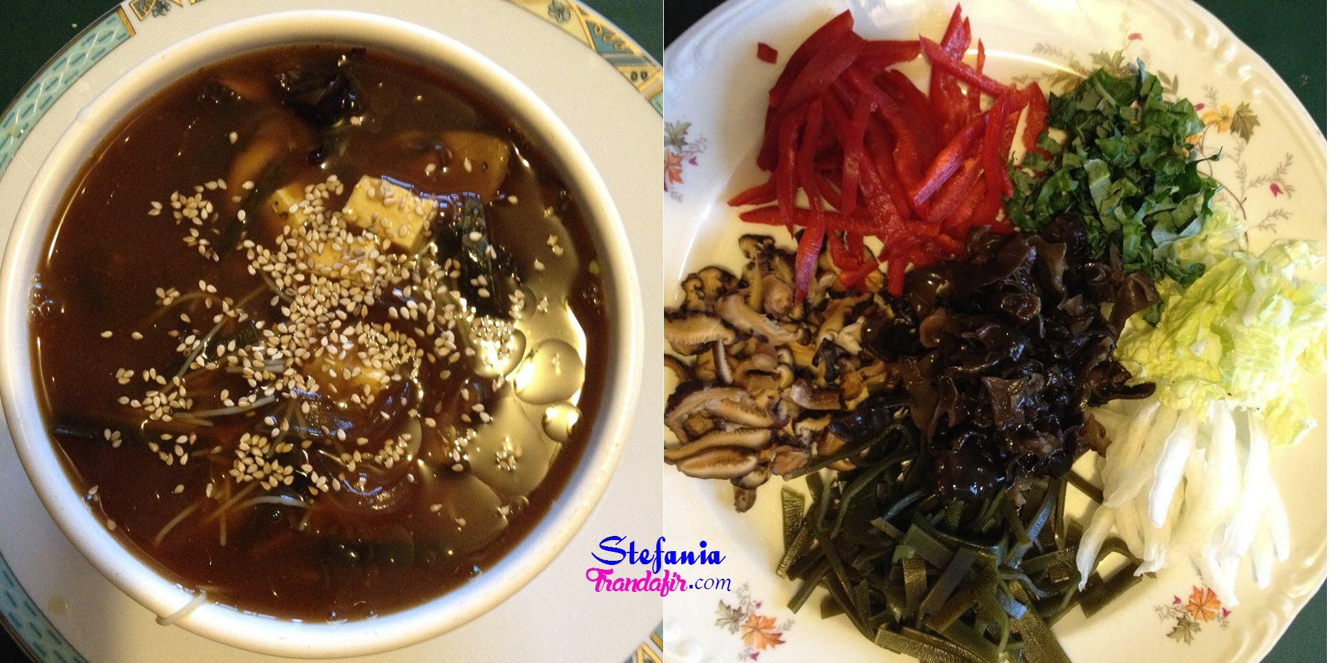 Reteta supa miso cu legume crude si tofu